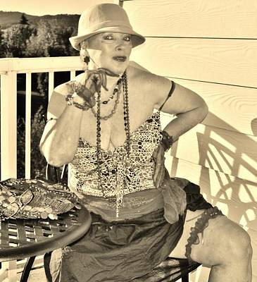Photograph - Retro Charm In Sepia by VLee Watson