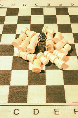 Play Photograph - Retro Chess Battles by Jorgo Photography - Wall Art Gallery