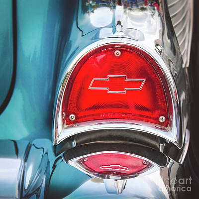 Photograph - Retro Chevy Tail Light by Colleen Kammerer