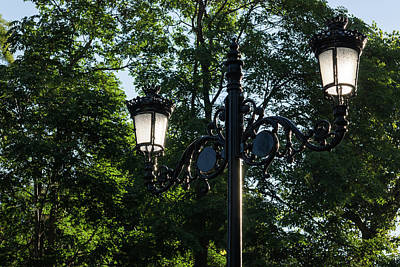 Photograph - Retro Chic Streetlamps - Old World Charm With A Modern Twist by Georgia Mizuleva