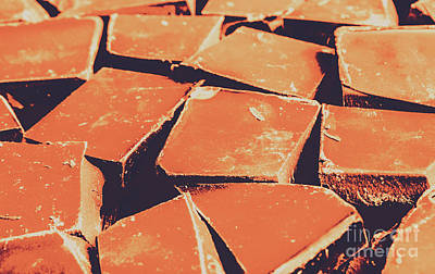 Food And Beverage Royalty-Free and Rights-Managed Images - Retro chocolate squares by Jorgo Photography - Wall Art Gallery