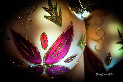 Photograph - Retro Christmas Ornaments by Joann Copeland-Paul