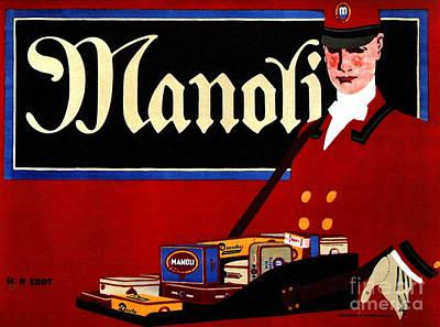 Photograph - Retro Cigarette Ad 1911 by Padre Art