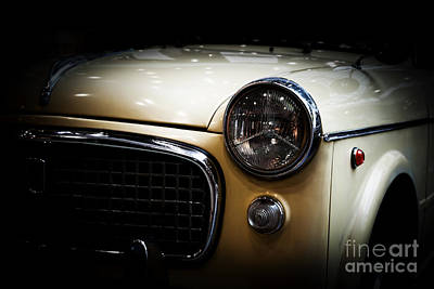 Pearl Photograph - Retro Classic Car On Black Background by Michal Bednarek