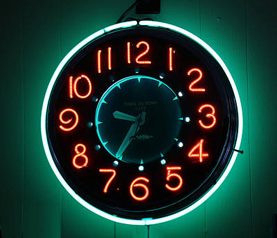 Photograph - Retro Clock by Mary Bedy