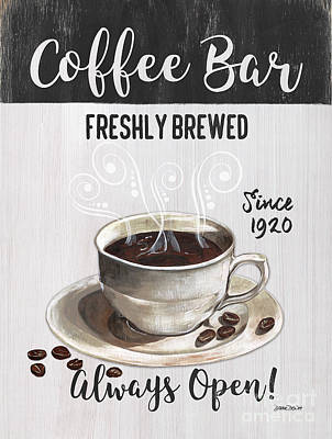 Bar Decor Painting - Retro Coffee Shop 2 by Debbie DeWitt