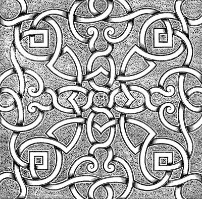 Repeat Drawing - Retro Design For Parterre by Andre Mollet