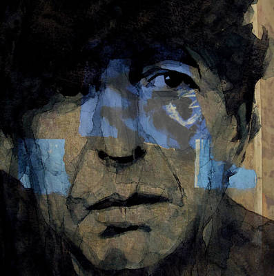 Songwriter Digital Art - Retro- Famous Blue Raincoat  by Paul Lovering