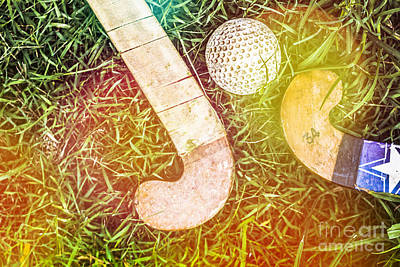 Hockey Art Photograph - Retro Field Hockey by Jorgo Photography - Wall Art Gallery