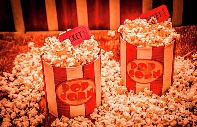 Popcorn Photograph - Retro Film And Entertainment Scene by Jorgo Photography - Wall Art Gallery
