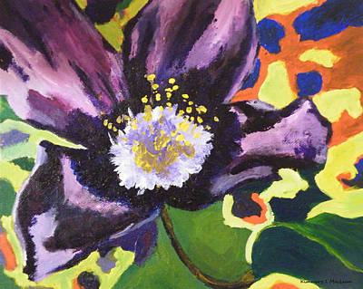 Painting - Retro Flower by Kimmary MacLean