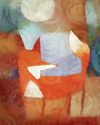 Mixed Media - Retro Fox by Lutz Baar