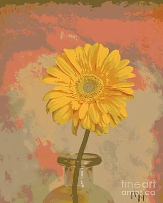 Digital Art - Pop Art Gerber Daisy by Marsha Heiken