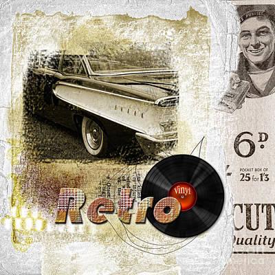 1960 Mixed Media - Retro by Gillian Singleton