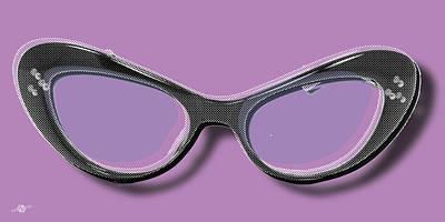 Surreal Art Painting - Retro Glasses Funky Pop Purple by Tony Rubino