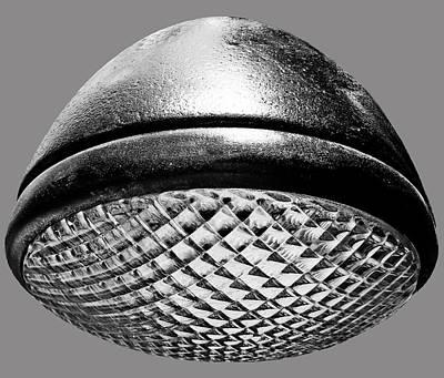 Photograph - Retro Gray Headlight by Tony Grider