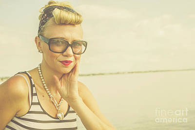 Locket Photograph - Retro Hair And Fashion Pinup by Jorgo Photography - Wall Art Gallery