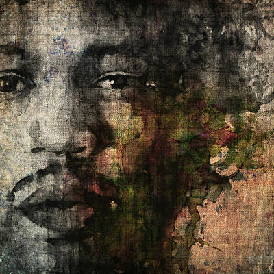 Jimi Hendrix Painting - Retro Hendrix @ No6 by Paul Lovering