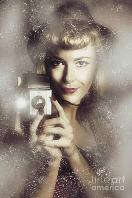 Retro Hollywood Fashion Photographer Art Print by Jorgo Photography - Wall Art Gallery
