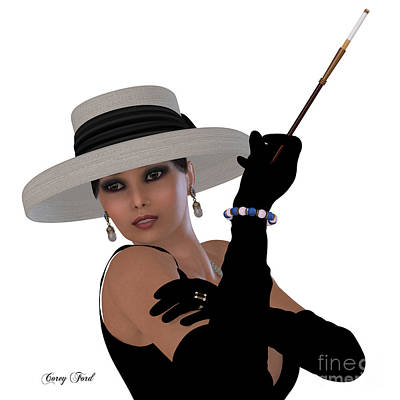 Retro Hollywood Glamour Art Print