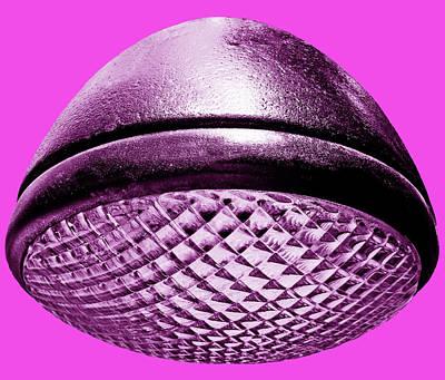 Photograph - Retro Hot Pink Headlight by Tony Grider