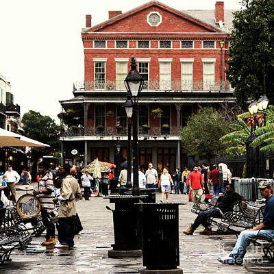 Photograph - Retro Jackson Square New Orleans by John Rizzuto