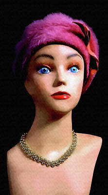 Digital Art - Retro Jewelry Mannequin by Denise Beverly