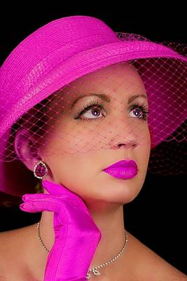 Photograph - Retro Lady In Fuchsia by Trudy Wilkerson