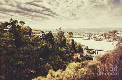 Photograph - Retro Landscape Photo Of Launceston Tasmania by Jorgo Photography - Wall Art Gallery