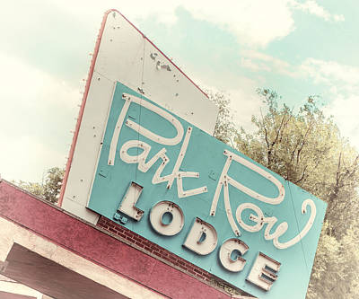 Photograph - Retro Lodge Sign - Photography by Ann Powell