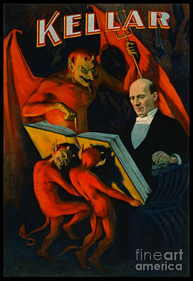 Art Lithographs Photograph - Retro Magic Poster 1894 by Padre Art
