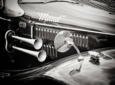Wing Mirror Photograph - Retro - Maud - Vintage Car by Philip Openshaw