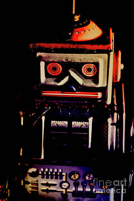 Digital Face Photograph - Retro Mechanical Robotics by Jorgo Photography - Wall Art Gallery