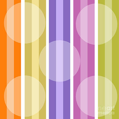 Retro Modern Painting - Retro Metro Warm Stripe by Mindy Sommers