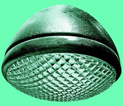 Photograph - Retro Mint Green Headlight by Tony Grider