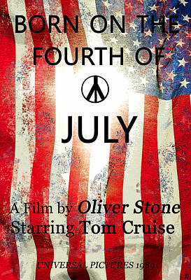 Painting - Retro Movie Poster 4th Of July by David Lee Thompson
