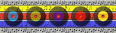Retro Music Art Print