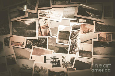 Retro Photo Album Background Art Print