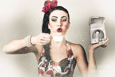 Photograph - Retro Pin Up Poster Girl. Wash And Clean Service by Jorgo Photography - Wall Art Gallery