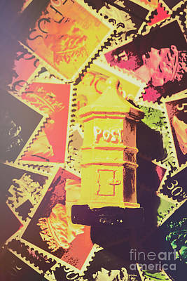 Retro Postal Service Art Print