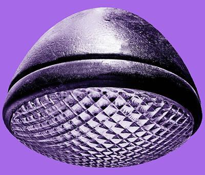 Photograph - Retro Purple Headlight by Tony Grider