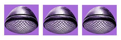 Photograph - Retro Purple Headlight Trio by Tony Grider