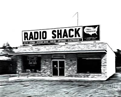 Buy Digital Art - Retro Radio Shack by Edward Fielding