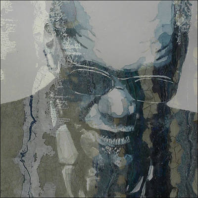 Watercolour Mixed Media - Retro / Ray Charles  by Paul Lovering