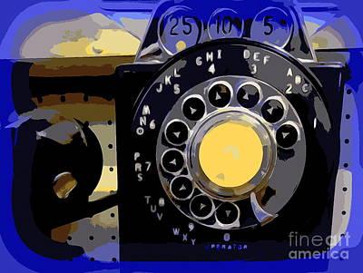 Digital Art - Retro Rotary by Ed Weidman