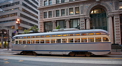 Street Photograph - Retro San Francisco Streetcar by Matthew Bamberg