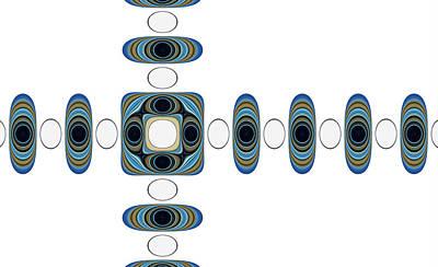 Digital Art - Retro Shapes 2 by Fran Riley