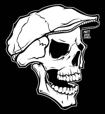 Tattoo Wall Art - Digital Art - Retro Skull by Matt Dyck