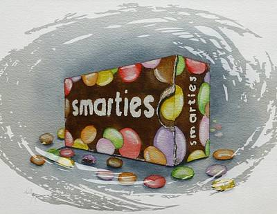 Painting - Retro Smarties Box by Kelly Mills