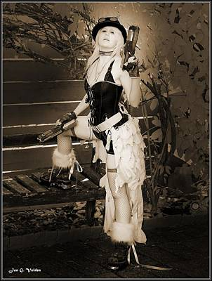 Photograph - Retro Steam Punk Vixen by Jon Volden